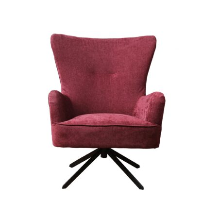 Buick Armchair - Chenille Berry