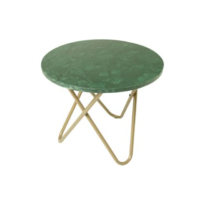 Marble Loop Leg Lamp Table - Green