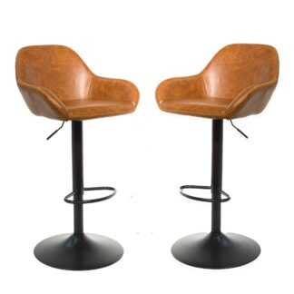 Cobham Gas Lift Barstool - Tan, Set of 2