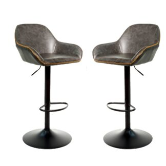 Cobham Gas Lift Barstool - Grey, Set of 2