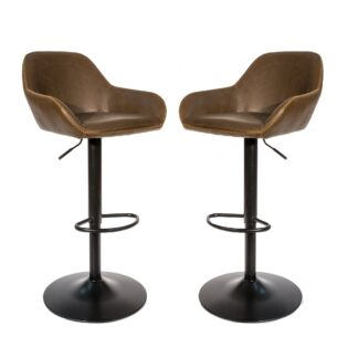 Cobham Gas Lift Barstool - Chestnut, Set of 2