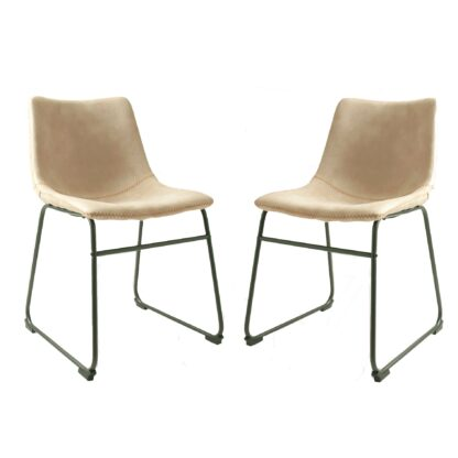 Cooper Dining Chair - Oyster Moleskin SET OF 2