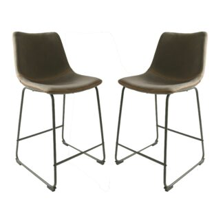 Cooper Counter Stool - Mussel Moleskin SET OF 2