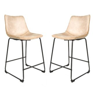Cooper Counter Stool - Oyster Moleskin SET OF 2