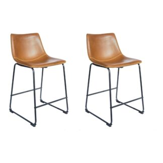 Cobham Counter Stool - Tan, Set of 2
