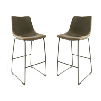 Cooper Bar Stool - Mussel Moleskin SET OF 2