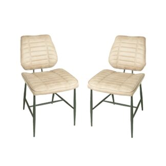 Cortina Chair - Oyster Moleskin SET OF 2