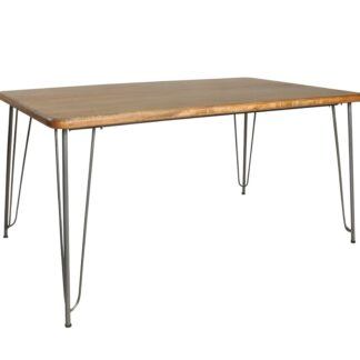 Retro Hairpin Dining Table Plain Top