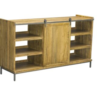 Industrial Re-Engineered Sideboard with Sliding Door