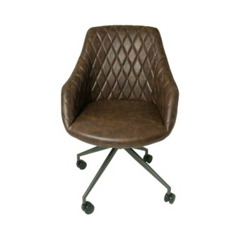 Focus Office Chair Chestnut Vegan Leather
