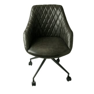Focus Office Chair Grey Vegan Leather