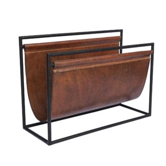 Leather sling Magazine Rack