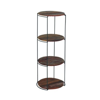 KLEO Boatwood Round Rack with 4 shelves