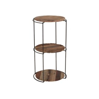 KLEO Boatwood Round Rack with 3 shelves