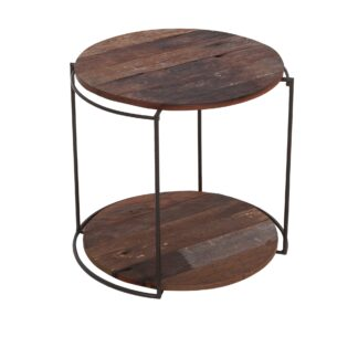 KLEO Boatwood Round Rack with 2 Shelves