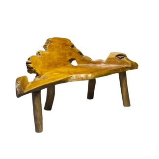 Teak Root Chaise Bench