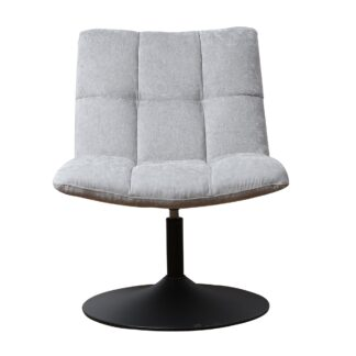 Mantis Swivel Chair - Chenille Grey