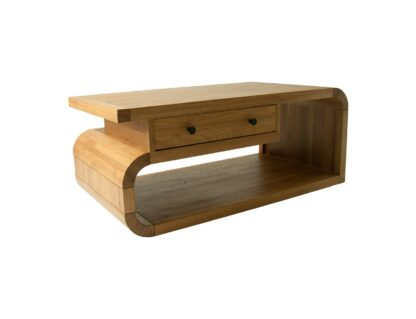 Lounge Oak Living Coffee Table With Drawer