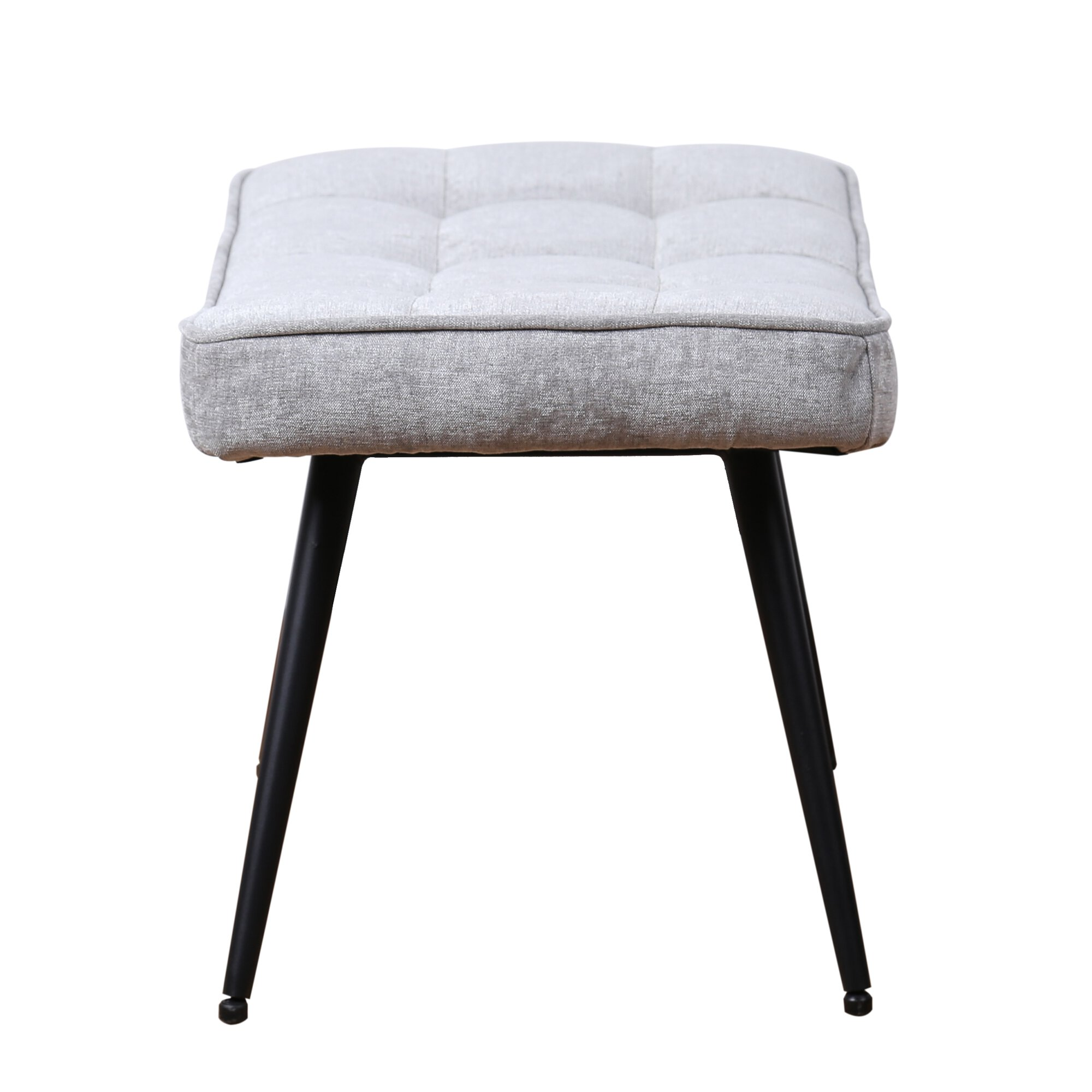 Pinto Footstool - Chenille Grey