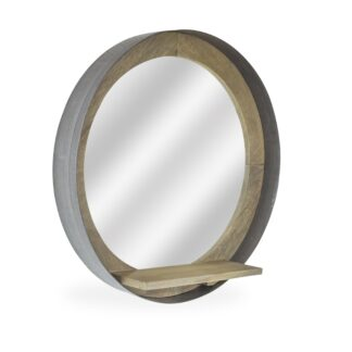 Radius Round Mirror w Shelf