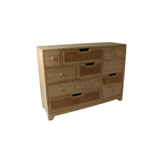 Rattan 12 Drawer Multi Chest