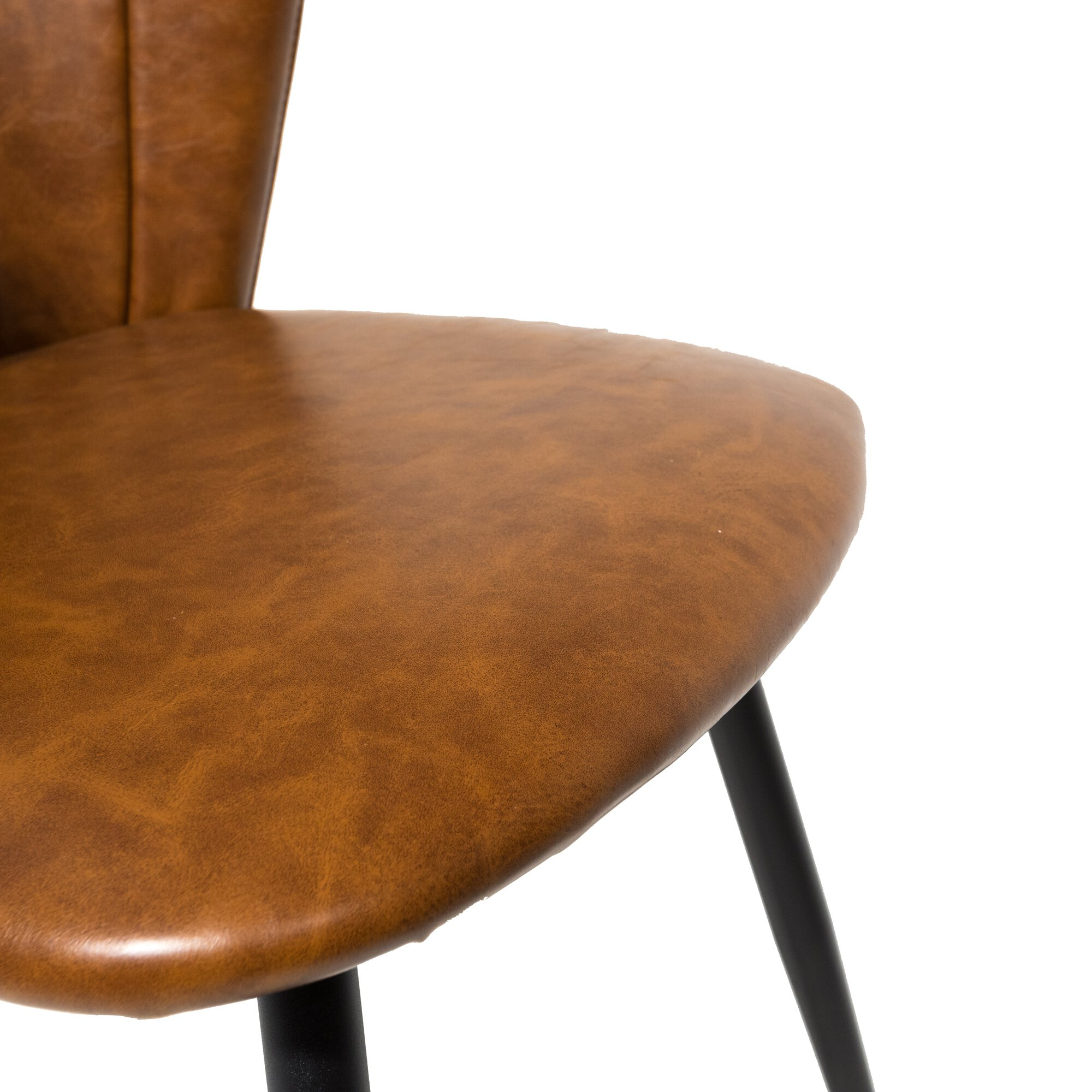 Shelby Dining Chair Vegan Leather Tan SET OF 2