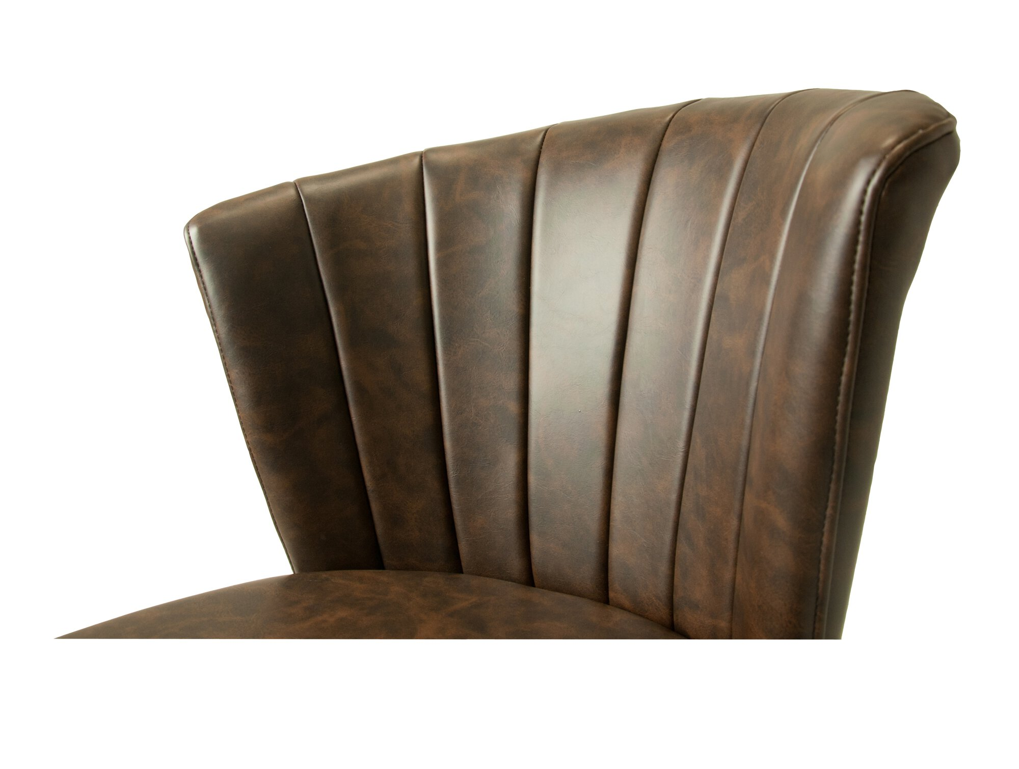 Shelby Dining Chair Vegan Leather Chestnut SET OF 2