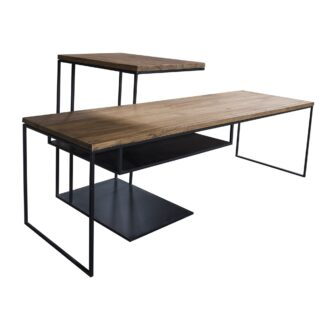 Verso Slim Coffee and Over Arm Lamp Nest of Tables
