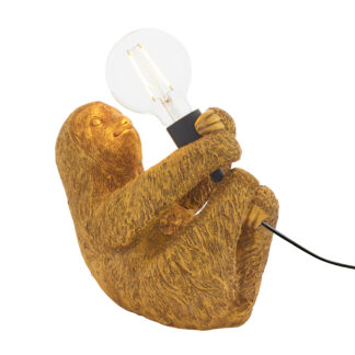 Sloth Table Lamp Gold