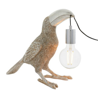 Toucan Table Lamp Silver