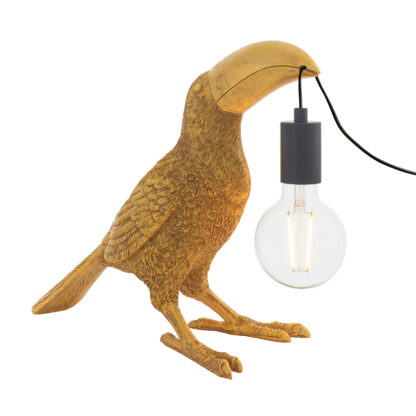 Toucan Table Lamp Gold