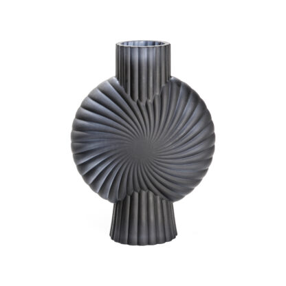Cassis Vase Frosted Black Small