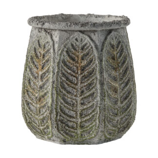 Hever Pot Rustic Green Large