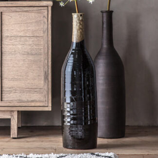Robello Bottle Vase Lava Black