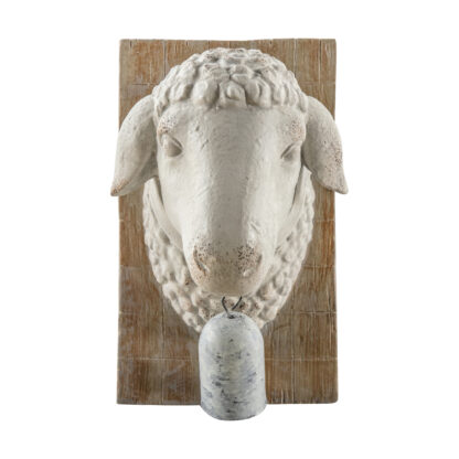 Sheep Bust with Bell