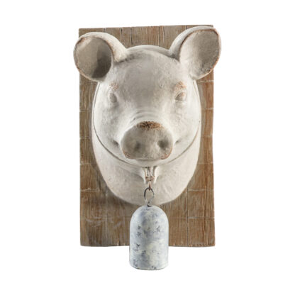 Pig Bust with Bell