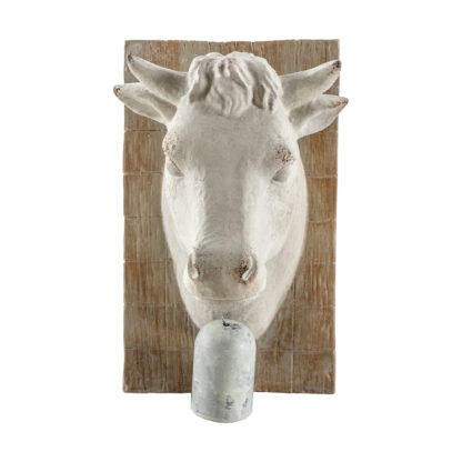 Cow Bust with Bell