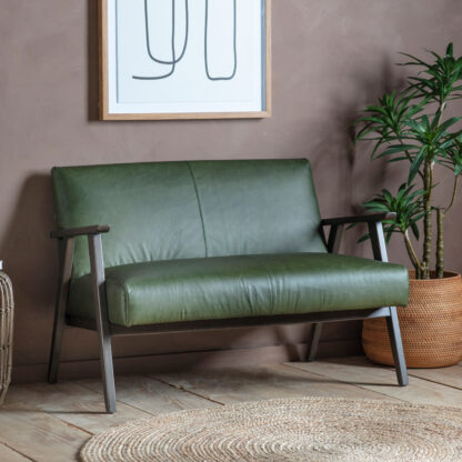 Neyland 2 Seater Sofa Heritage Green Leather