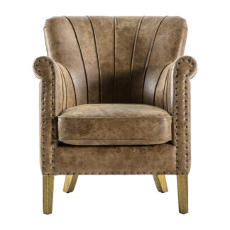 Hickman Armchair Brown Leather
