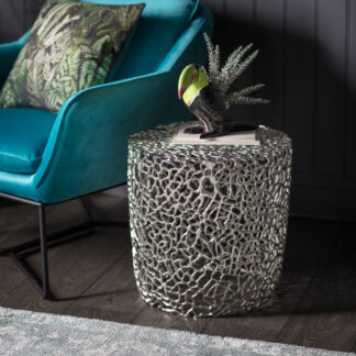 Verdant Side Table Silver