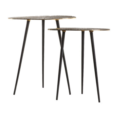 Valence Nest of 2 Tables Gold