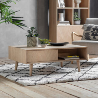Milano 2 Drawer Coffee Table