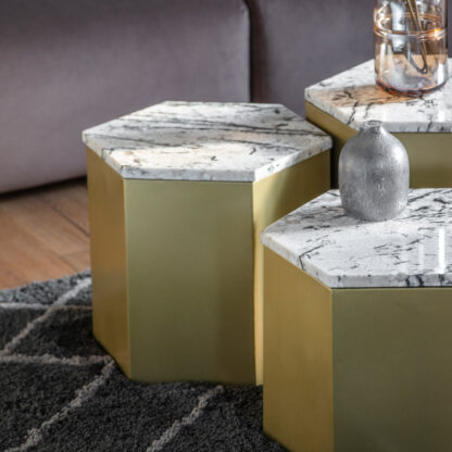 Lydden Side Table Gold