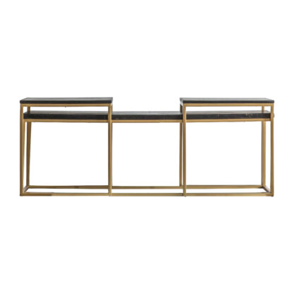 Bletchley Coffee Table Nest Black