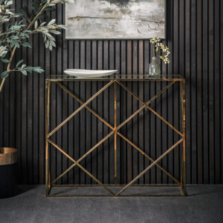 Parma Console Table Gold