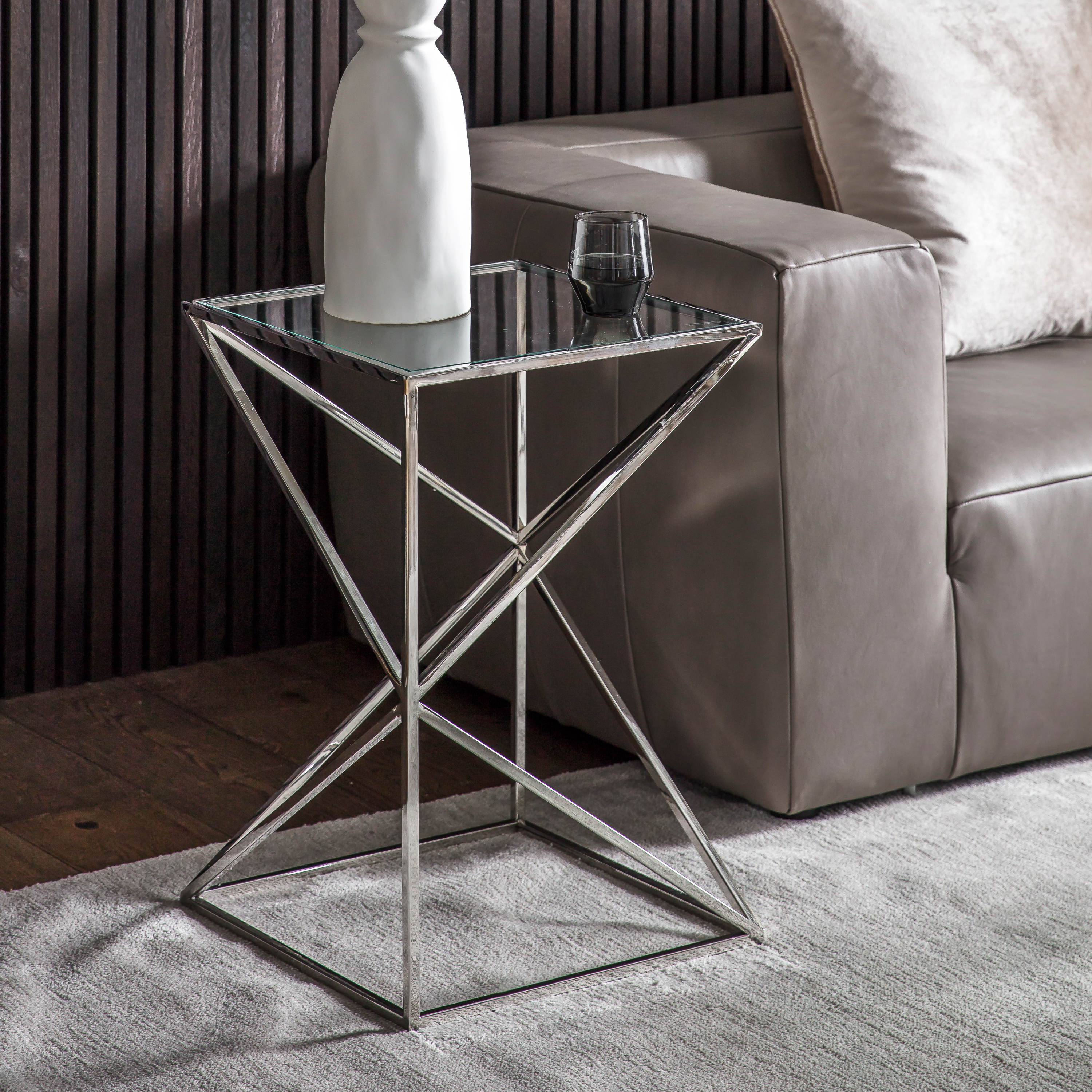 Parma Side Table Silver