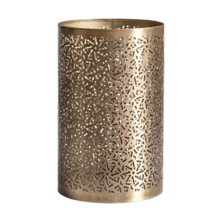 Sheeka Hurricane Vase Brass
