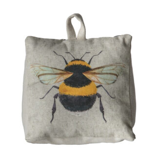 Bee Watercolour Doorstop Natural