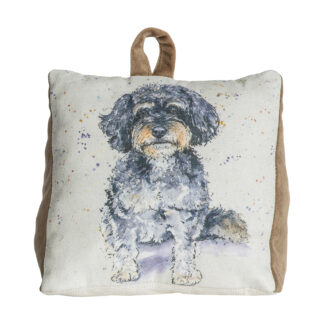 Cavapoo Watercolour Doorstop Mink