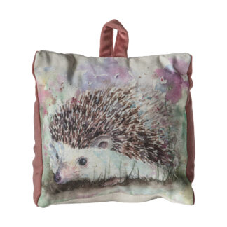 Hedgehog Watercolour Doorstop Heather